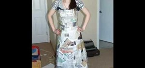 Make a ball gown out of trash bags and newspapers