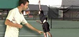 Follow through your serve in tennis