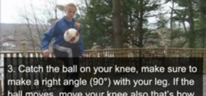Do the Knee Stall freestyle soccer trick