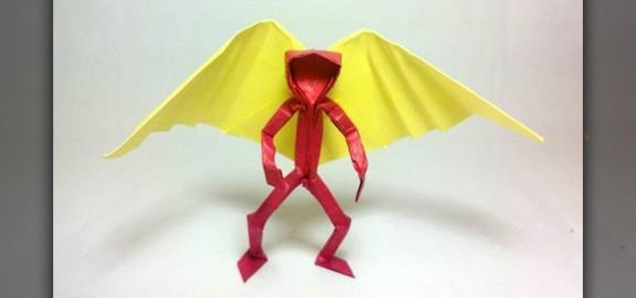 How To Fold An Origami Angel With A Wide Wing Span WonderHowTo