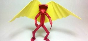 Fold an origami angel with a wide wing span