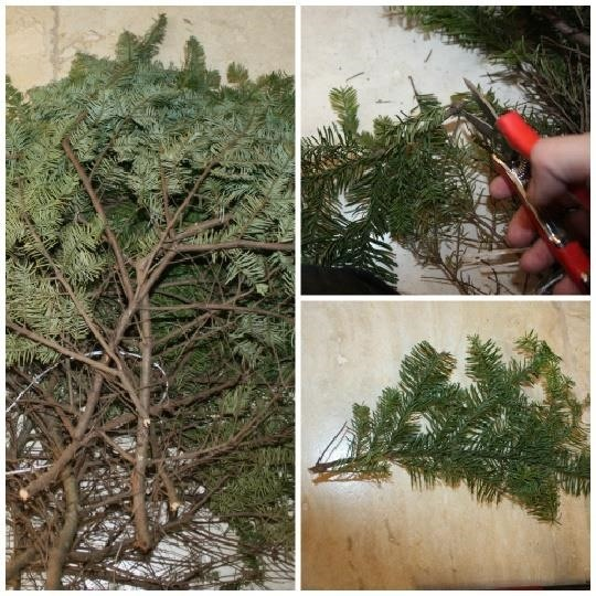 How to Fill in Ugly Bare Spots on Your Christmas Tree