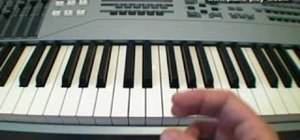 Play minor chords on the piano