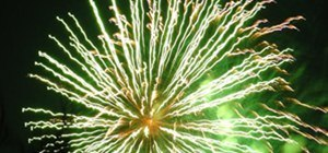 Fireworks Photography Challenge: Green Electric Explosion
