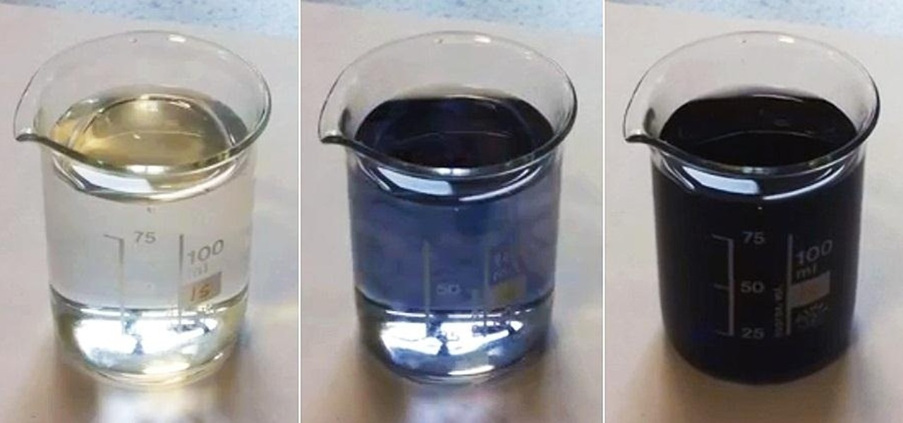 "Colorize Colorless Liquids with ""Black"" Magic, AKA the Iodine Clock Reaction"