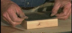 Make a sanding block for wood