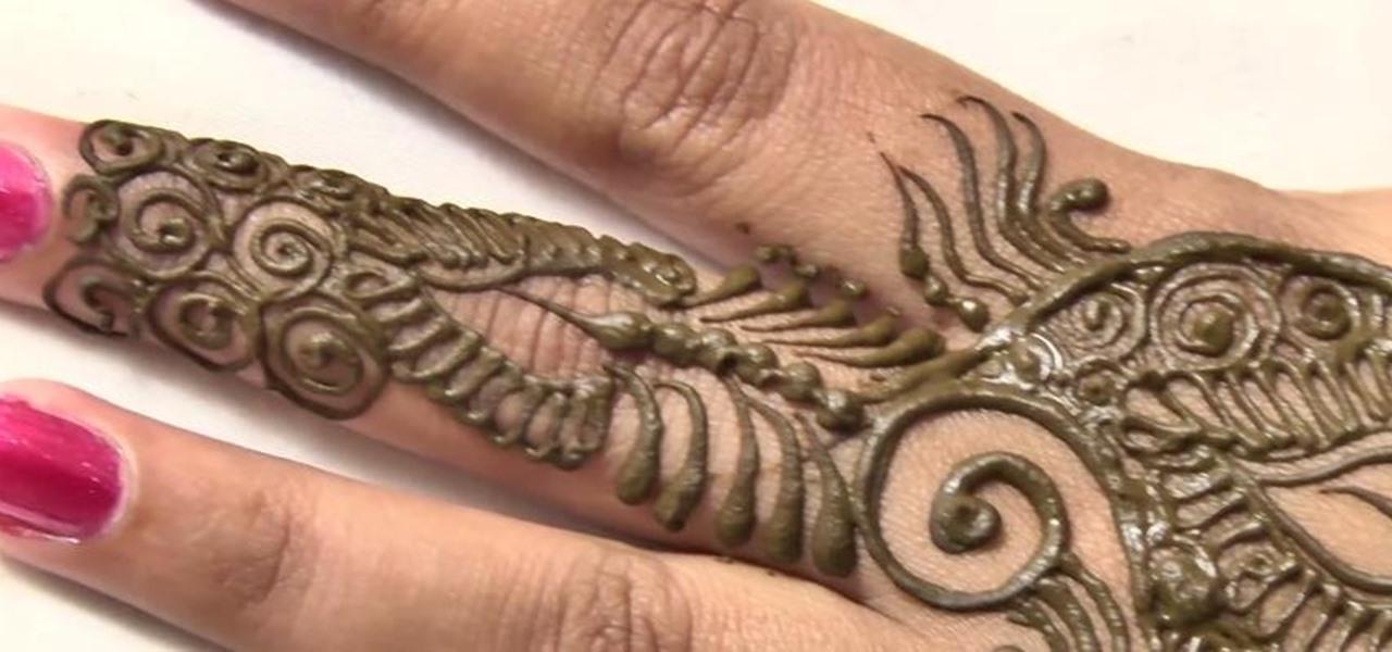 Mehndi Henna How To : How to do arabic mehndi design for hands � henna