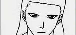 Draw the manga character Byakuya Kuchiki from Bleach