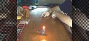"""Do the """"Bar Slide"""" trick with a Zippo lighter"""