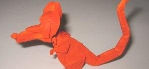 Origami a cool rat