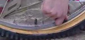 Repair a punctured tire on a bike