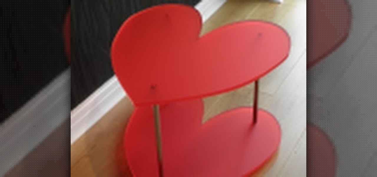 How To Make A DIY Heart Shaped Table From A Perspex Plastic Sheet «  Construction U0026 Repair :: WonderHowTo