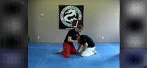 Do a Jiu Jitsu guillotine choke