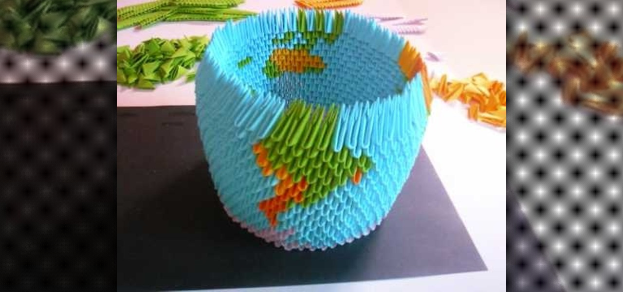 How to origami a 3d earth globe origami wonderhowto sciox Gallery
