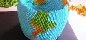 Origami a 3D Earth Globe