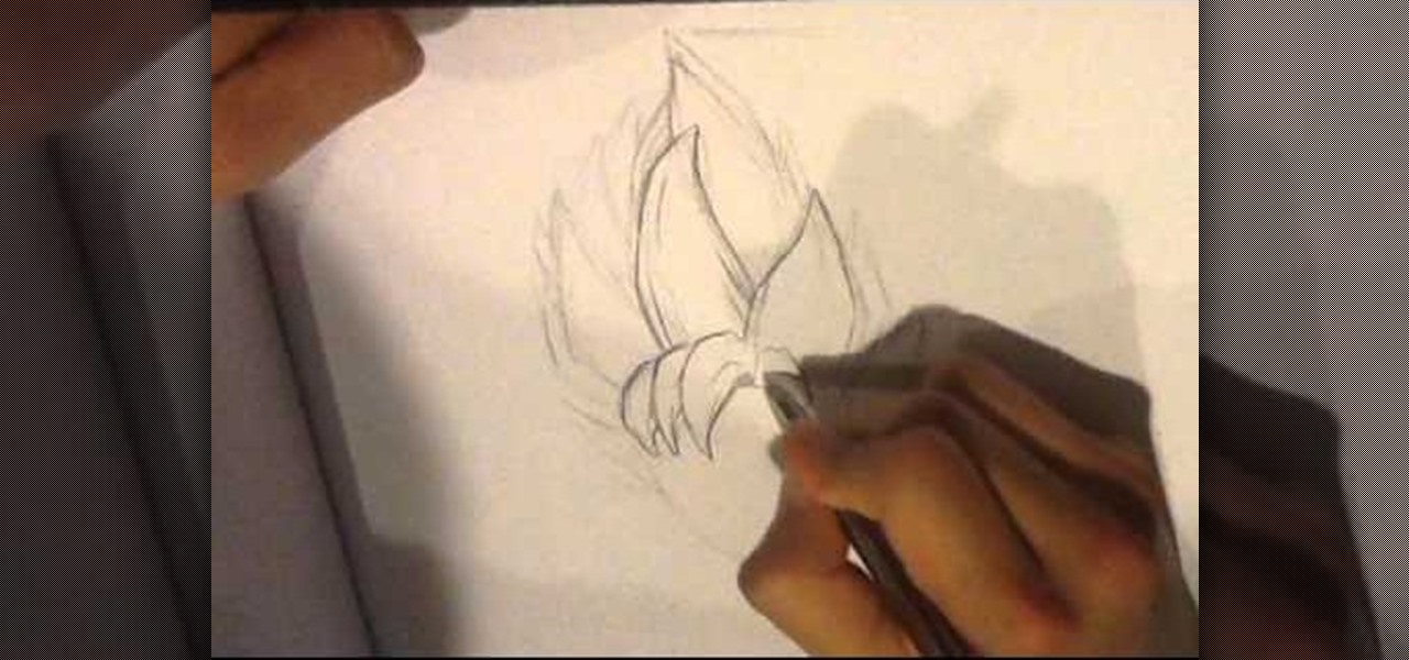 How To Draw Dragonball Z Hair Howtodrawfantasy Wonderhowto