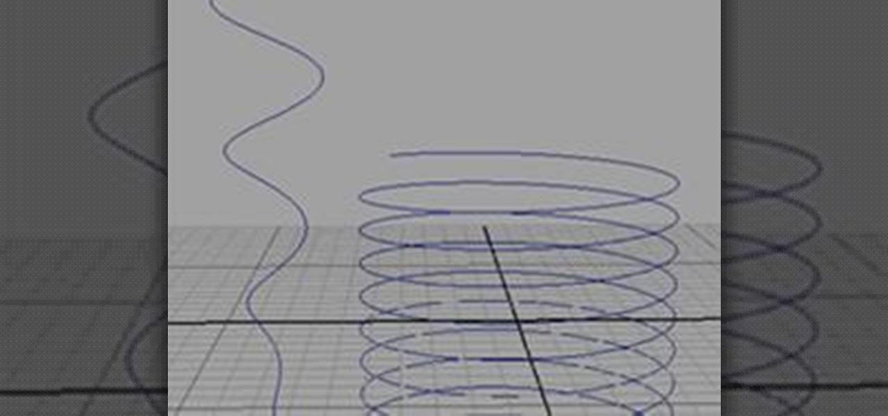 How to Create a Helix-Shaped NURBS Curve in Maya « Maya