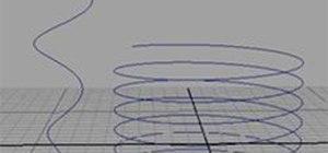 Create a Helix-Shaped NURBS Curve in Maya