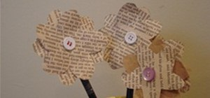 Make Paper Flowers from Old Books