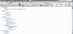 View an outline in Microsoft Word for Mac 2011