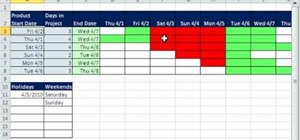 Create a daily Gantt Chart in Microsoft Excel