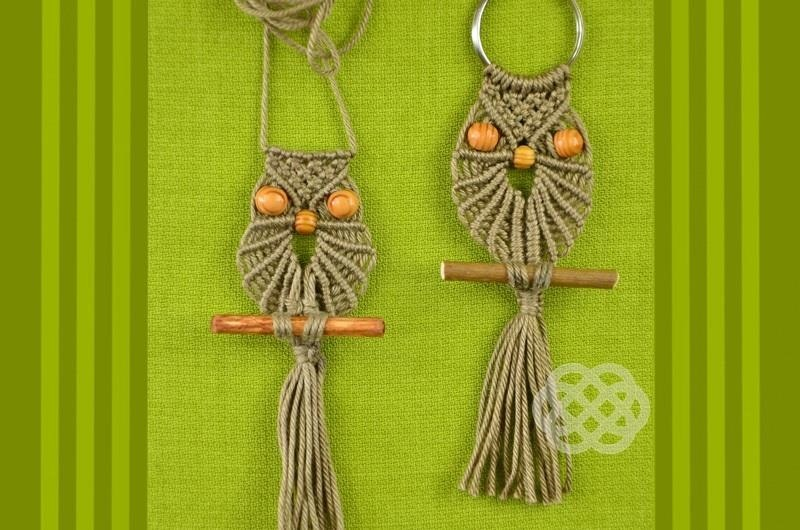 How To Make Macrame Owl 171 Jewelry