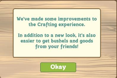 Farmville Crafting Buildings and Farmers Market Changes