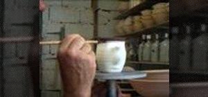 Paint bands on mugs
