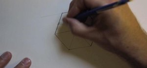 Draw an isometric cube using a template and measuring scrap