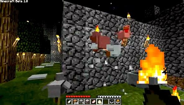 How to Play Minecraft Beta and Spawn Chickens by Tossing Eggs