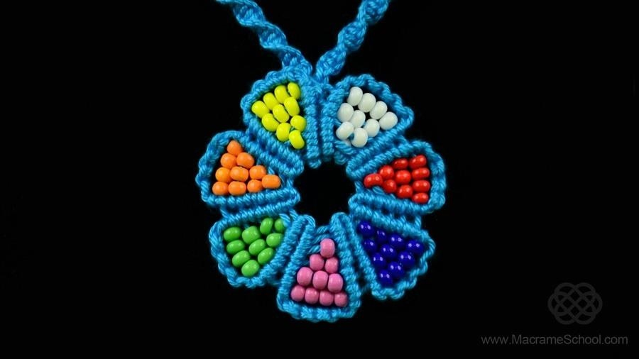 How to Make a Macrame Flower with Beads
