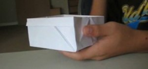 Make your own origami snack box