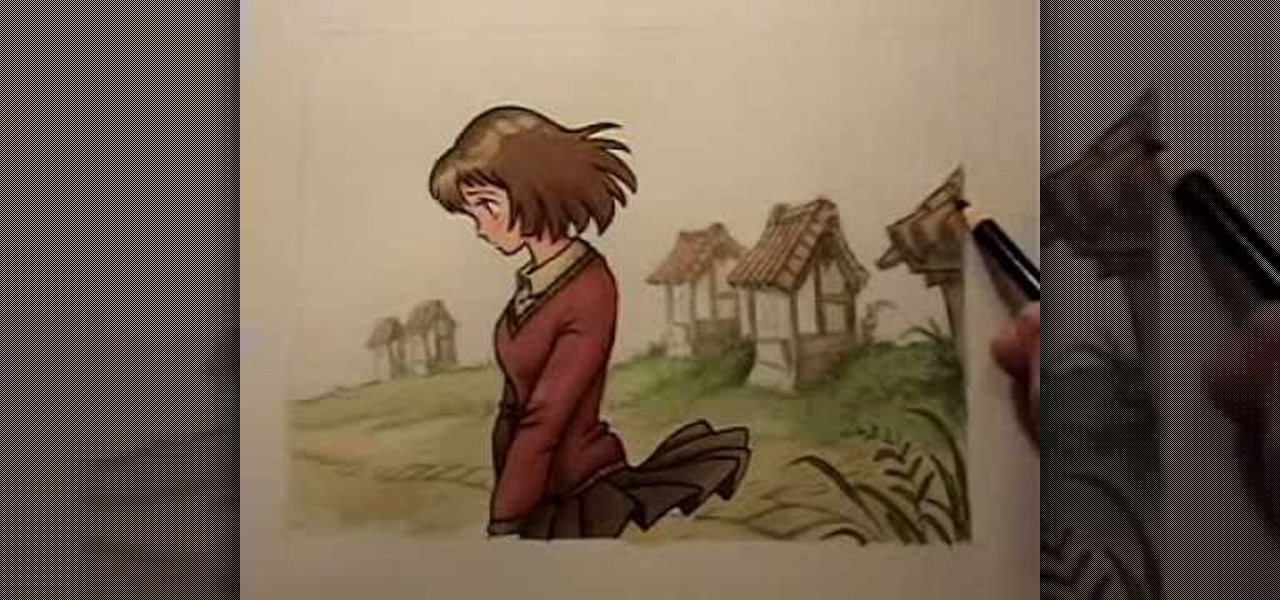 How To Draw Anime Manga Backgrounds Drawing Illustration Wonderhowto