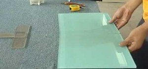 Cut large format glass tiles