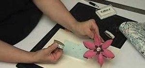 Make paper flower ornaments