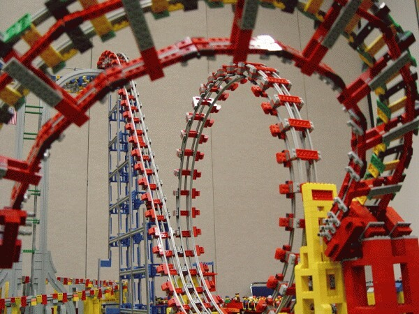 Working LEGO Roller Coaster by Matt