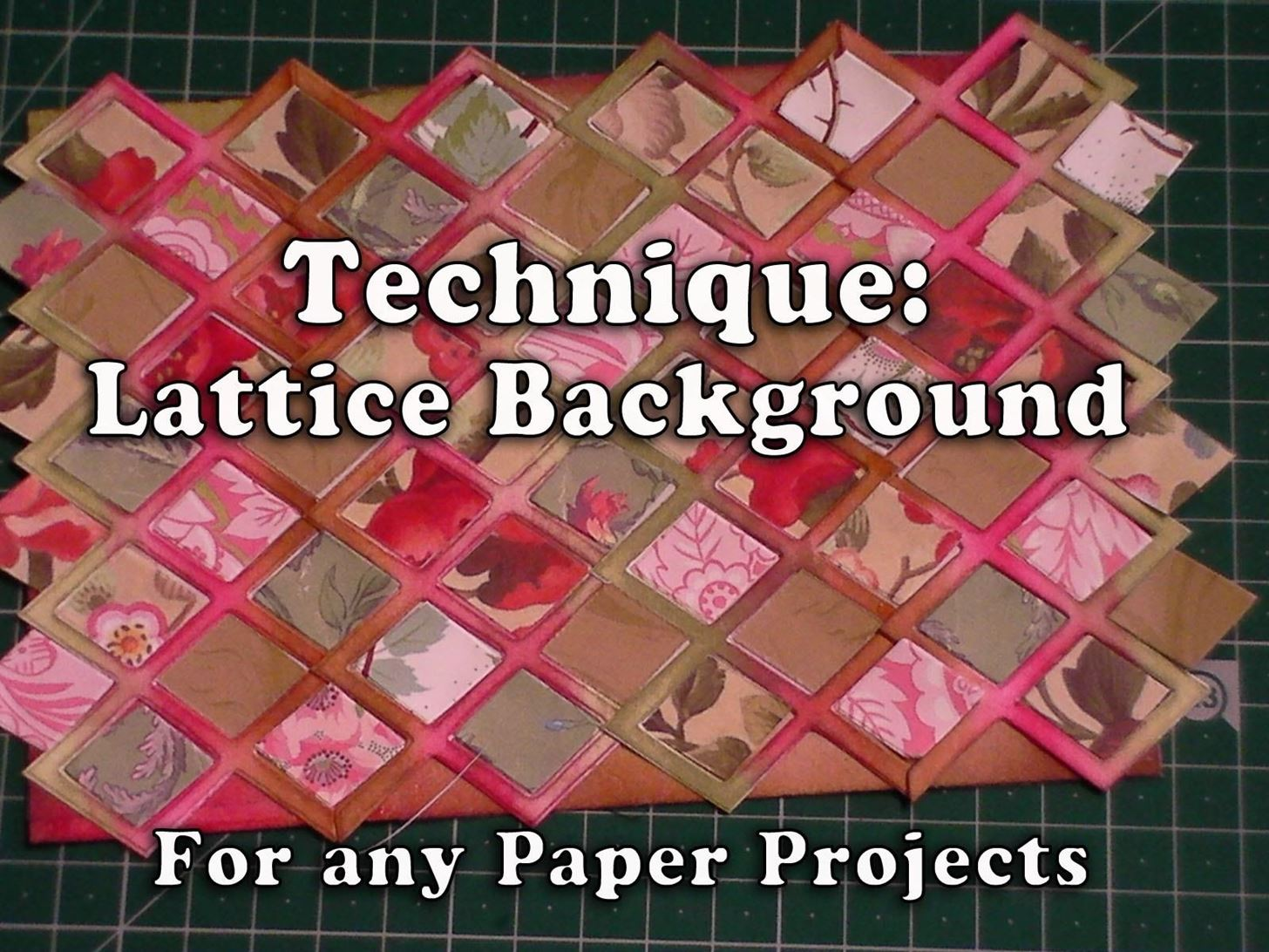 How to Make a Lattice Background for Your Paper Crafting