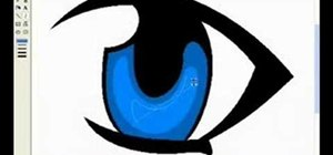 Draw a manga eye in MS Pain and make it blink