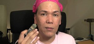 Apply liquid foundation evenly using charged water