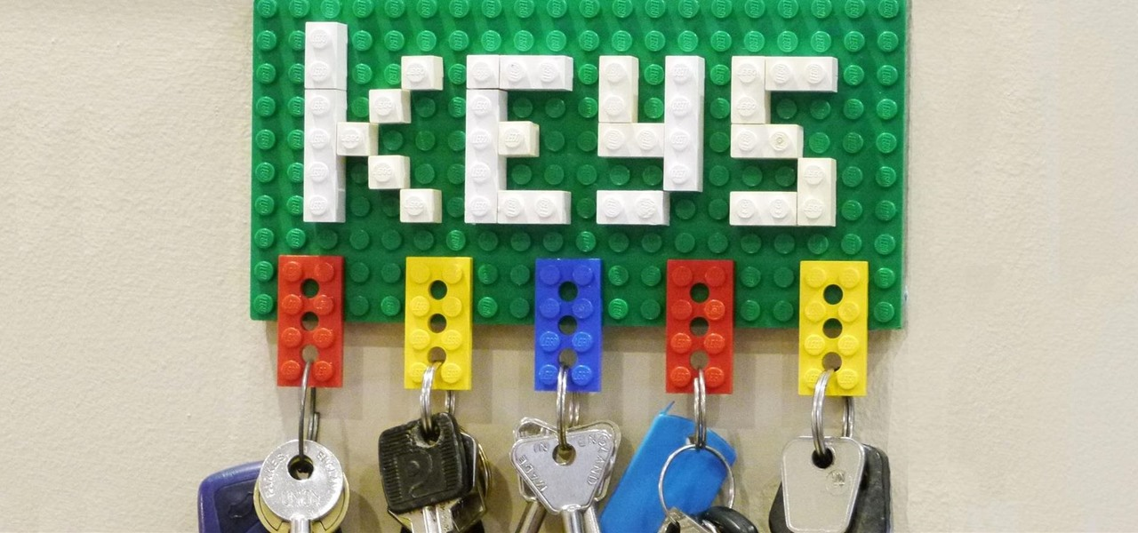 Make a Lego Key Holder and Note Clip