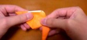 Fold an origami paper cat