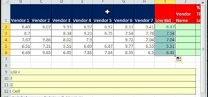 Find values with the INDEX & MATCH functions in Excel