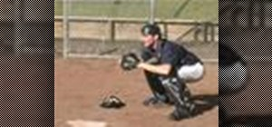 Use proper footwork as a catcher in baseball