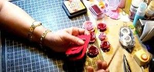 Make sparkling paper roses