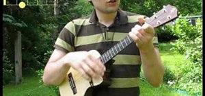 """Play """"Viva la Vida"""" by Coldplay on the ukulele"""