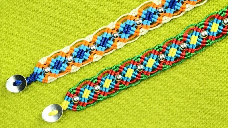 DIY Colorful Wave Bracelet