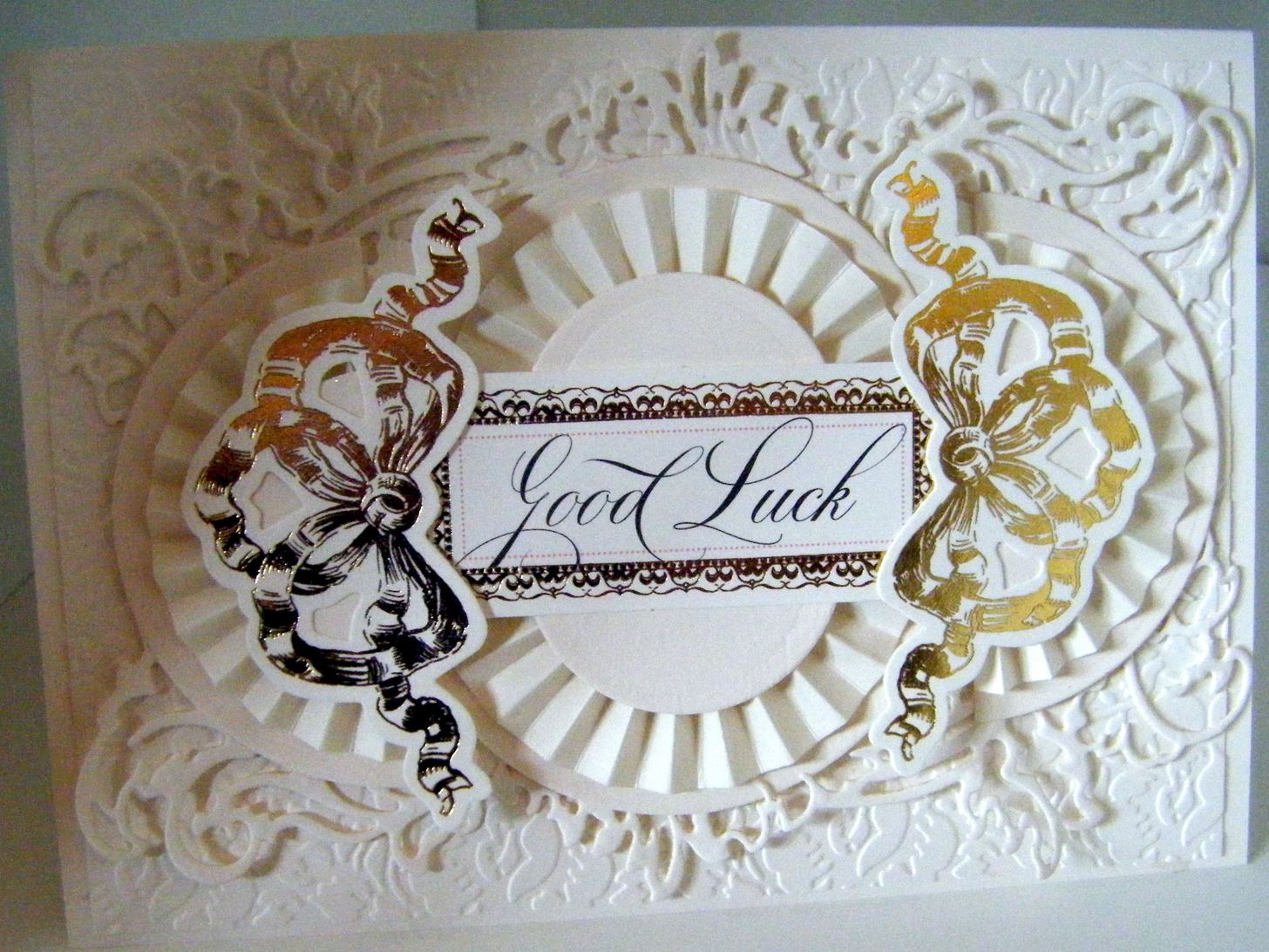 How to Make Ivory Ornate Frame Card