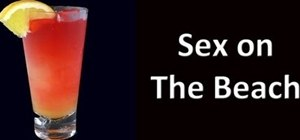 Make a classic Sex on the Beach cocktail