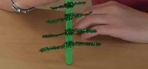 Make a Christmas tree decoration for kids