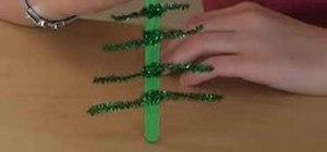 Make a Christmas tree decoration for kids